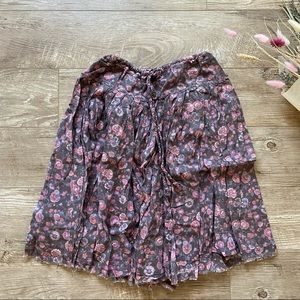 American Eagle Floral Skirt size S
